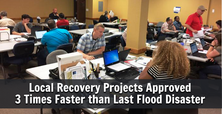 Local Recovery Projects Approved 3 Times Faster than Last Flood Disaster