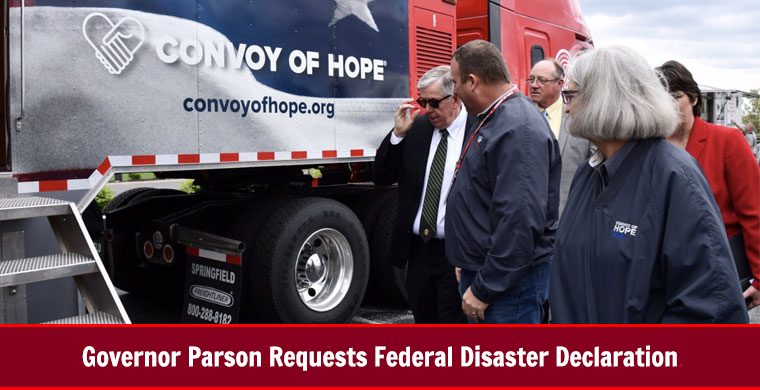 Governor Parson Requests Federal Disaster Declaration