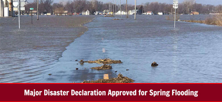 Major Disaster Declaration Approval for Spring Flooding