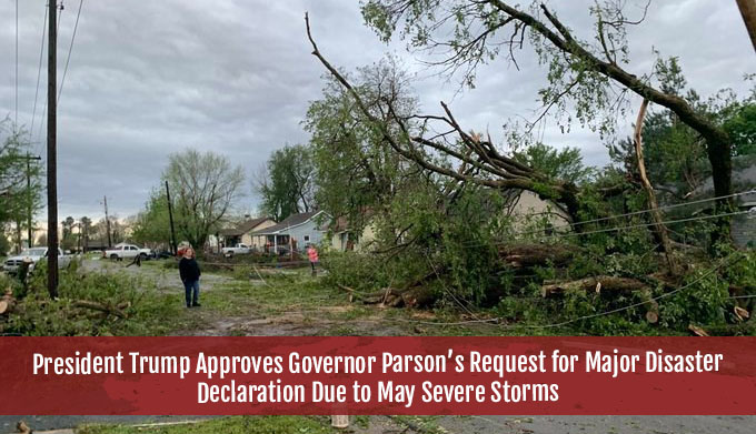 President Trump Approved Governor Parson's Request for Major Disaster Declaration Due to May Storms