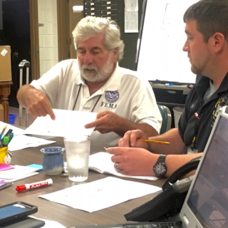 FEMA Disaster Survivor Assistance representative meets with Franklin County emergency management officials