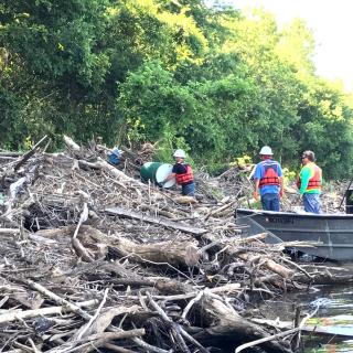 "Recovering ""orphaned"" containers on the Meramec River"