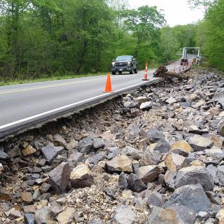 Flood Damage on Route 49 in Iron County