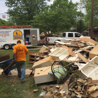 Georgia Baptist Convention volunteer helps with clean up and recovery efforts