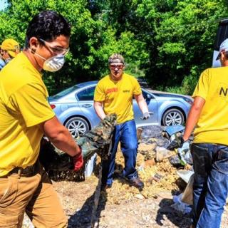 Student volunteers assist with flood recovery in Jefferson County