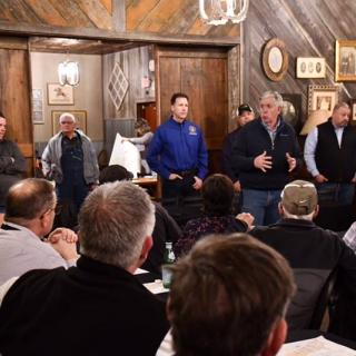 Governor Parson meets with local officials in northwest Missouri on Thursday, March 21.