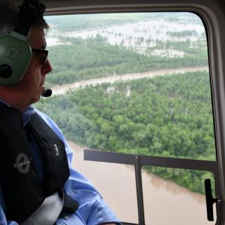 Governor Parson surveys Cole County tornado and flood damage May 24, 2019